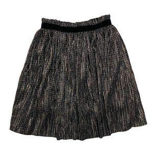 Zara Bronze Metallic Pleated Skirt